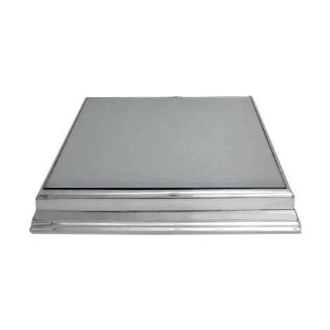 Base para Bolo Prata Quadrada com Espelho 50X50cm