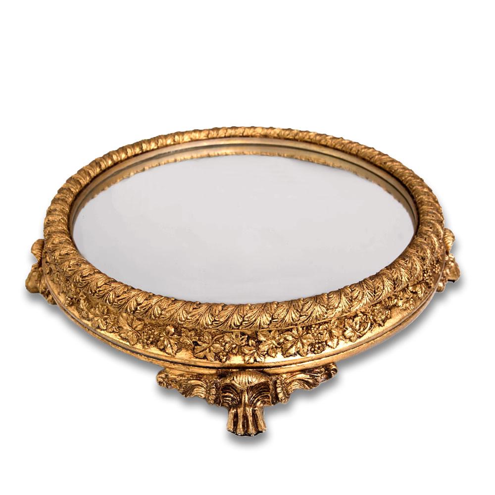 Base para Bolo/Boleira Real Dourada Redonda 40cm