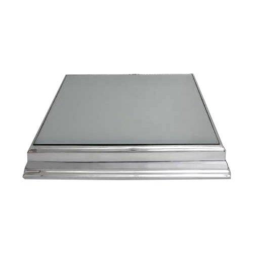 Base para Bolo/Boleira Prata Quadrada Espelhada 50x50cm