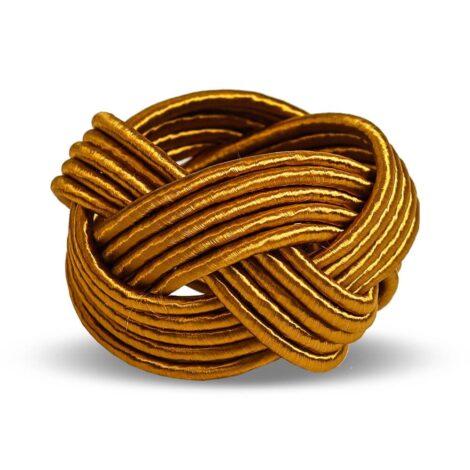 Anel de Guardanapo Cordão Dourado